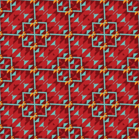 Abstract pattern in red Vector