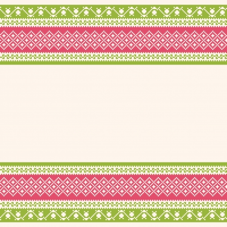embroidered: Embroidered ornamental striped background