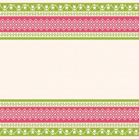 gestickt: Gestickte ornamental gestreiften Hintergrund