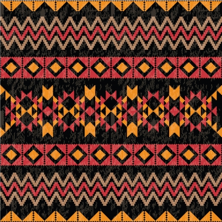 navajo: Geometric pattern at black background