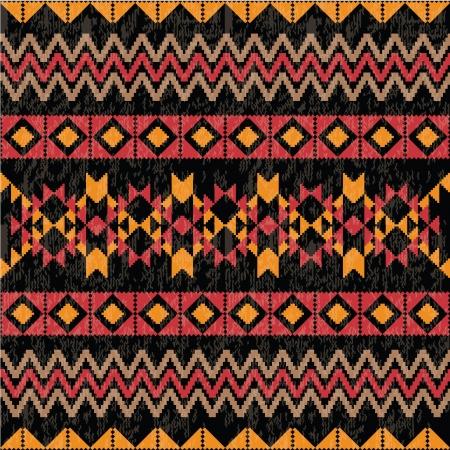 Geometrische patroon op zwarte achtergrond Stock Illustratie