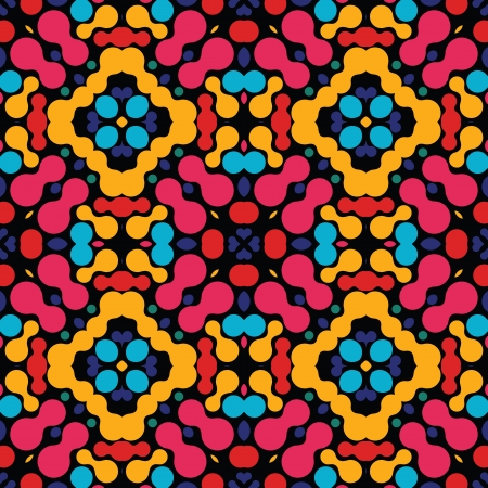 vitrage: Kaleidoscopic vitrage colorful abstract seamless pattern Illustration