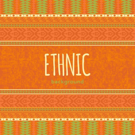 Orange ethnic textile background Vector