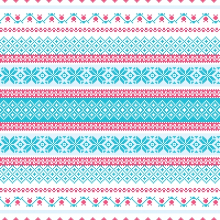 Abstract embroidered background seamless pattern Vector