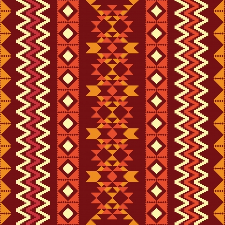 Abstract geometric pattern in ethnic style Vector