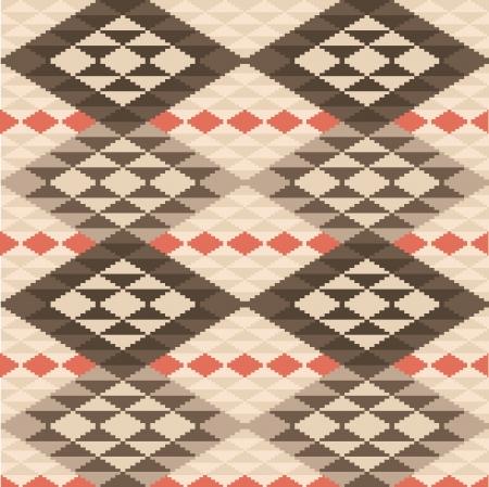 Abstracte geometrische etnische kleed naadloze patroon Stock Illustratie