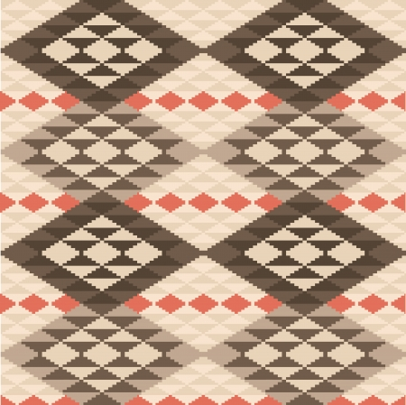 Abstract geometric ethnic rug seamless pattern
