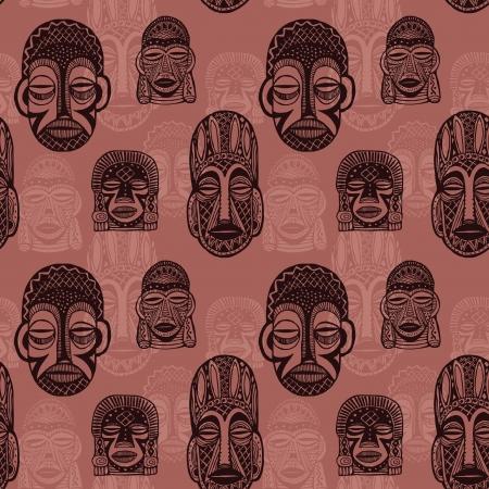 wooden mask: African masks seamless background
