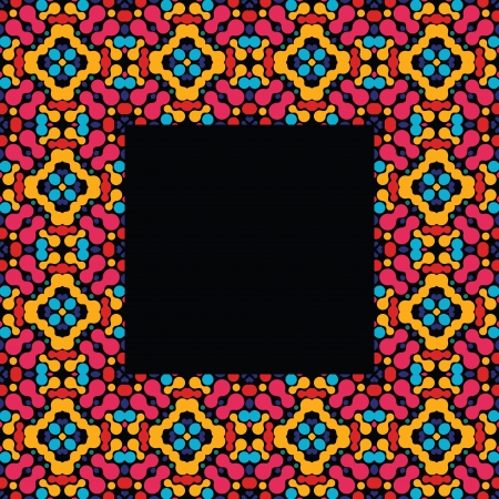 kaleidoscopic: Abstract colorful frame