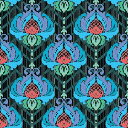 Floral textile ornamental seamless pattern Stock Vector - 22097995