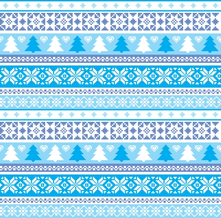 Christmas traditional ornament seamless pattern Vector