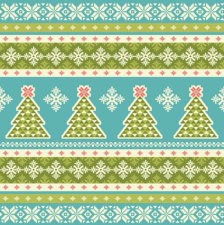 fair isle: Christmas seamless pattern Illustration