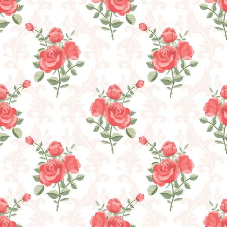 Rose klassiek patroon Stock Illustratie