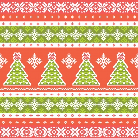 fair isle: Christmas pattern