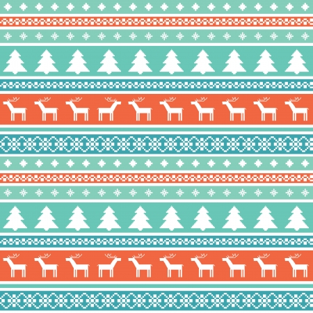 Seamless pattern with traditional christmas ornaments Vector