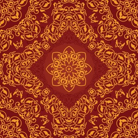 batik motif: Decorative rosette arabesque seamless pattern