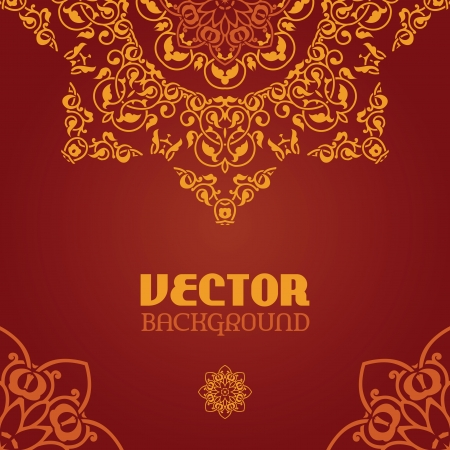 Ornamental arabesque lace for design in ethnic style Vector