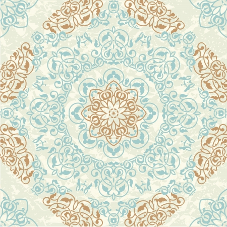 medallion: Ethnic background seamless pattern