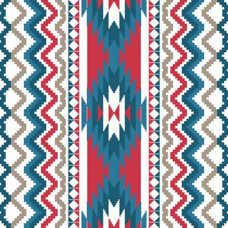 Ethnic textile seamless background Vector