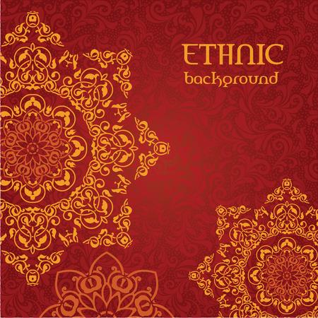 Ethnic ornamental background