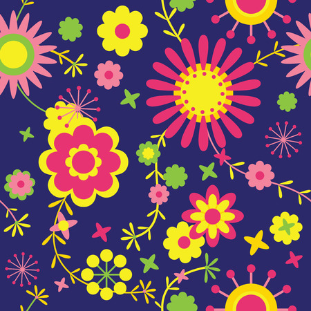multycolored: Colorful floral pattern Illustration
