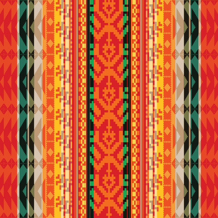 Geometric striped textile ethnic seamless pattern Vector