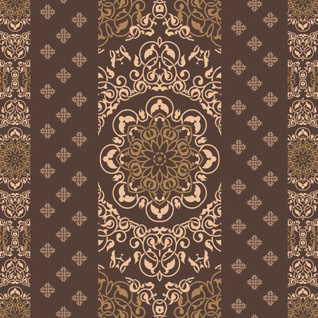 Ornamental pattern in indian style Vector