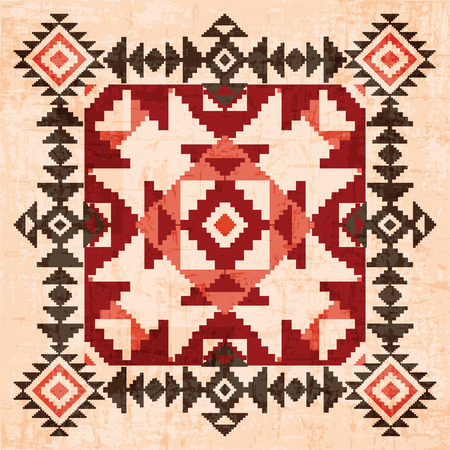 Absract geometric ornament in american indian style Illustration