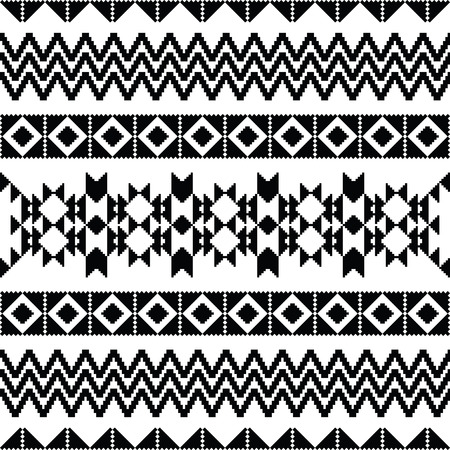 tribal pattern: Absract geometric seamless pattern in ethnic style