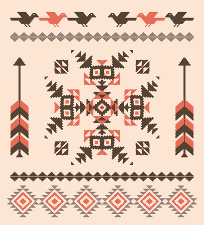 navajo: Decorative pattern in american indian style