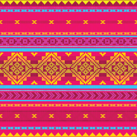 inca: Ethnic abstract striped pattern Illustration