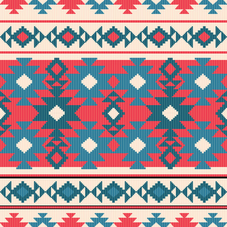 Geometric seamless pattern in ethnic style