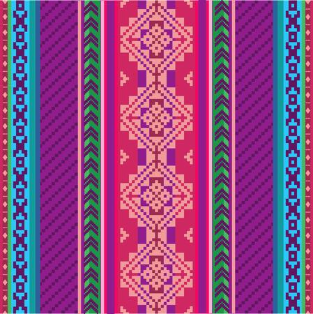 Ethnic textile seamless pattern Illustration