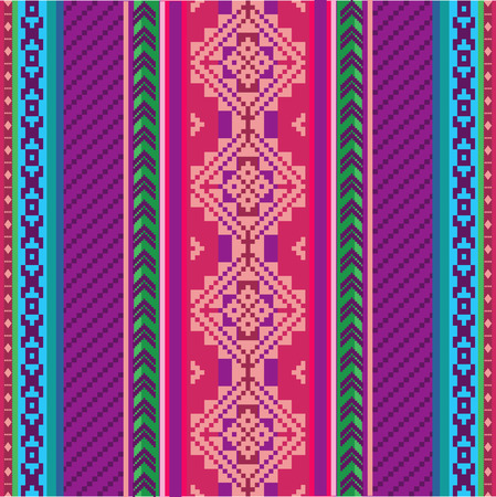 Ethnic textile seamless pattern Vectores
