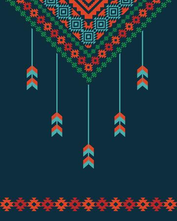 ornamental background: Ornamental background with dreamcatcher Illustration
