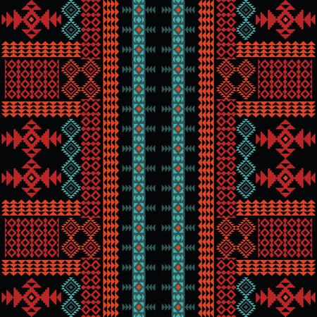 Tribal ornamental seamless pattern Vector