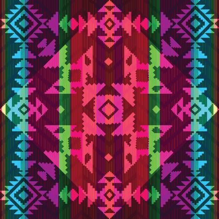 Geometrische ornament in etnische stijl Stock Illustratie