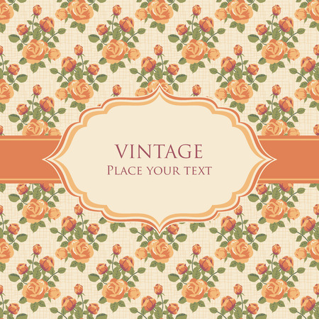 retro design: Vintage background with roses