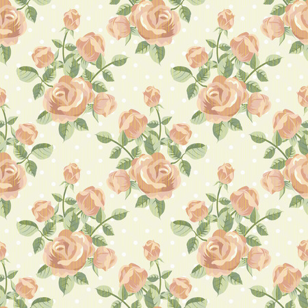 textured paper: Retro pattern  with roses