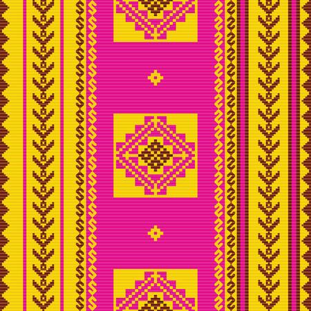 South american fabric ornamental pattern  イラスト・ベクター素材
