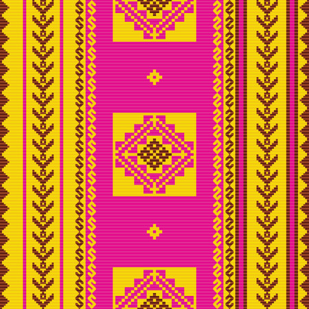 South american fabric ornamental pattern Vectores
