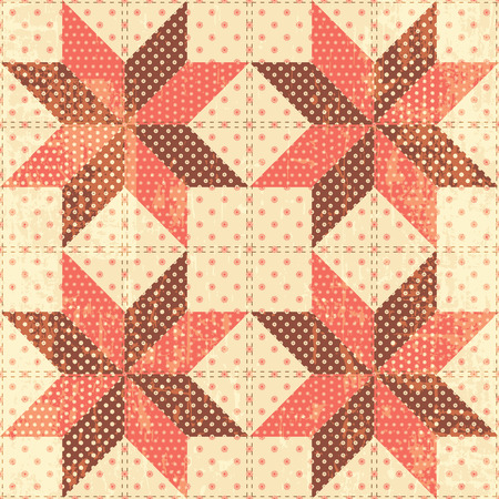 chabby: Patchwork stars background seamless pattern