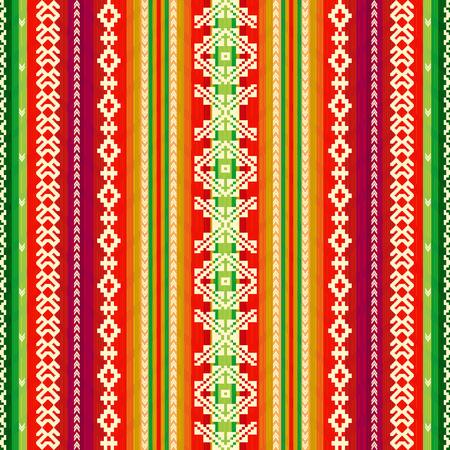 Ethnic fabric pattern Illusztráció