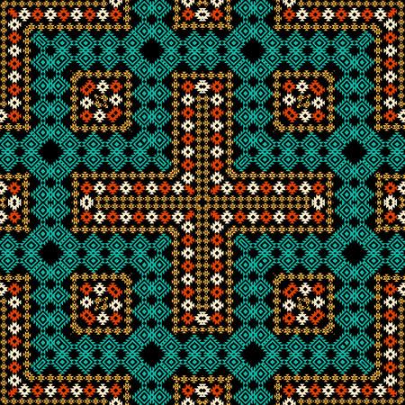 Colorful ethnic ornament Vector