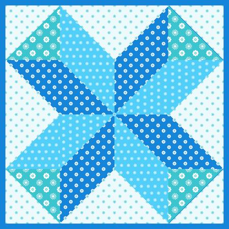 Patchwork motif seamless pattern