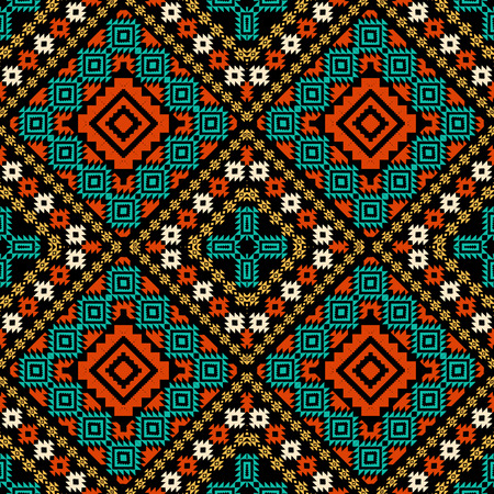 african tribe: Colorful ethnic ornament Illustration