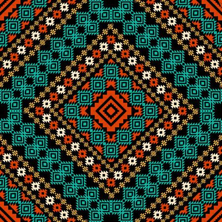 Geometric ornament in ethnic style Vektorové ilustrace