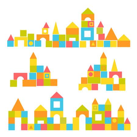 Ensemble des blocs du château Banque d'images - 32155392