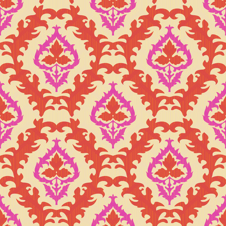 Ornamental seamless pattern with traditional Central Asian motifs Vector