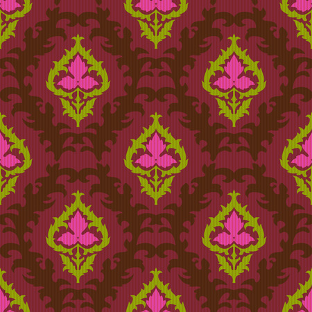 uzbekistan: Ethnic ikat textile seamless pattern Illustration